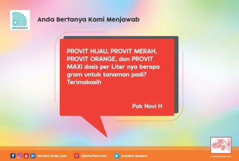 #ABKM Dosis SERIAL PROVIT untuk Padi?