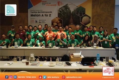 Roadshow Pelatihan 2020, Tuntas Berhidroponik Melon A to Z di Jakarta