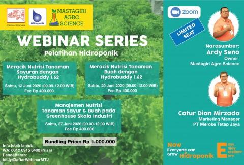 Webinar Series Pelatihan Hidroponik Meroke Tetap Jaya